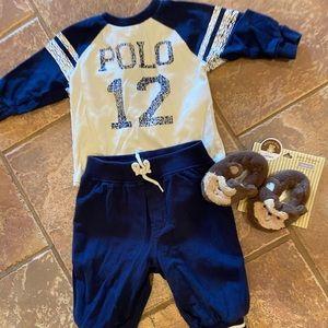 Ralph Lauren polo and booties